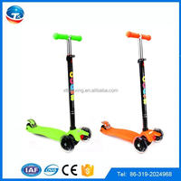 folding hot selling kids kick scooter / new pattern 3 wheel hand brake kids kick scooter/fashion scooter for children 3 wheel