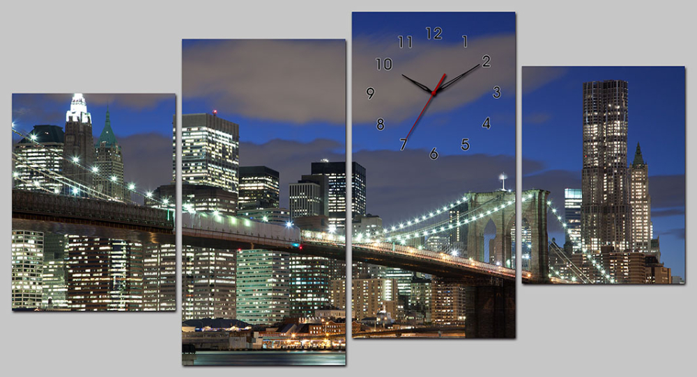 Canvas digital wall clock , clock with sangtai clock movements