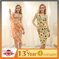 2014 sexy girl swim sarong,swim dress