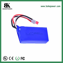 Small order weocome 703048-2S 850mAh 7.4v rechargeable lithium polymer battery pack
