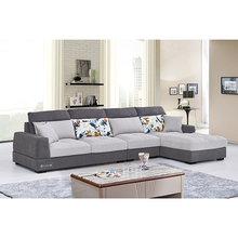 New Latest Grey Expensive Fabric Sectional Chaise Lounge Sofas Sets Low Arm Beautiful Partional Wood Furniture Living Room Sofa