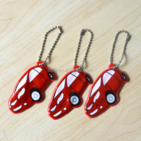 Customize Car Style Reflective Soft PVC Keychain &Bag Pendant
