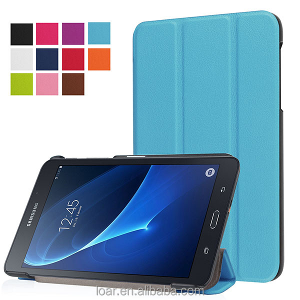New arrival Tri folding PU Flip tablet cover for samsung galaxy tab A 7.0 T280 leather case