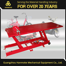 500kg mini scissor lift table pneumatic motorcycle lift for Car Elevators