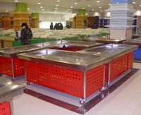 Dingfeng customized fish seafood red countertop display cooler for supermarket retailer