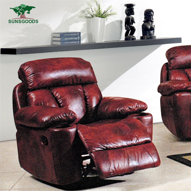 Factory Supply Red Leather Recliner Chair,Red Leather Wingback Recliner