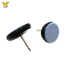 Diameter 30mm nail on teflon sliders for furniture protector(8pcs)