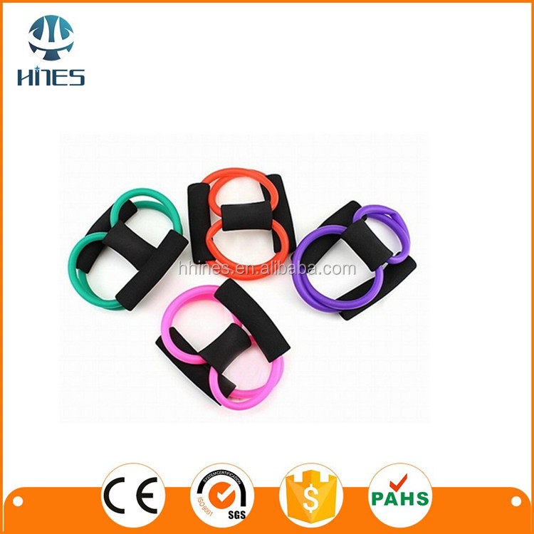 HINES Colorful And Cheap Price 8-Shape Expander,Latex Tube