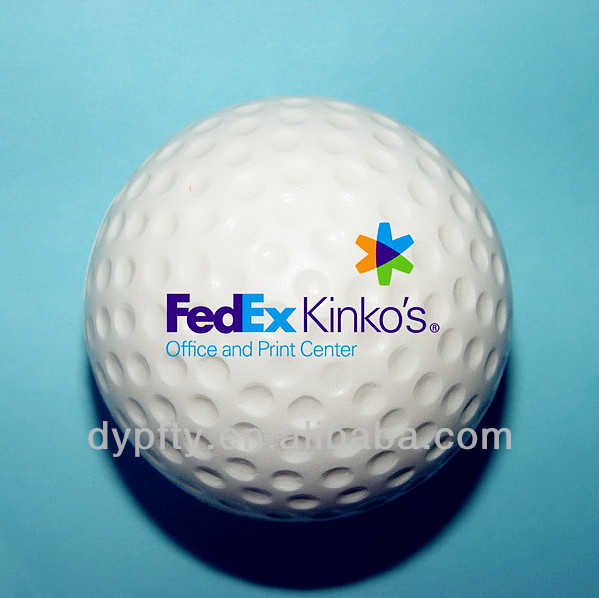custom logo printed mini 42mm pu stress golf balls