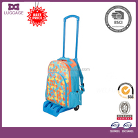 New design kids trolley school bag, detachable school bag