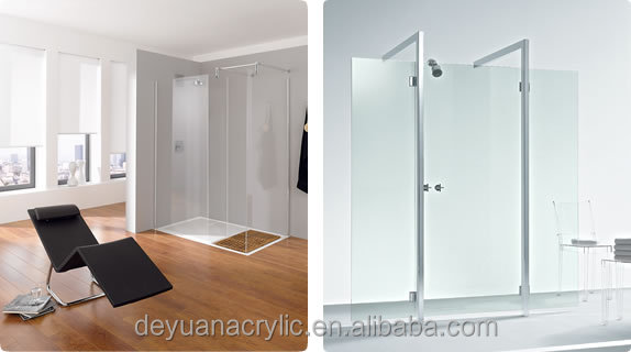 Hot Sale Competitive price Acrylic shower cubicle/Customize acrylic Clear shower enclosure