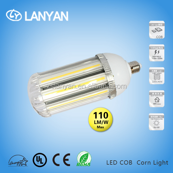 30w COB corn light ul us eneergy star approved high lumen 110lm/w