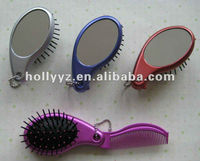 2013 high quality new design foldable mini hairbrush