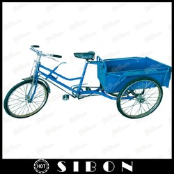 "SIBON 26"" pedal cargo tricycle with cabin of different sizes"