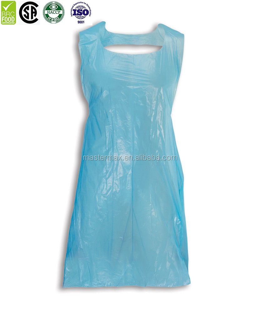 Customized Adult Use disponsable Plastic Apron