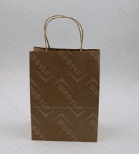 Simple Cheap Recycled Kraft Paper Grocery Bags with Twistes Handle personalized