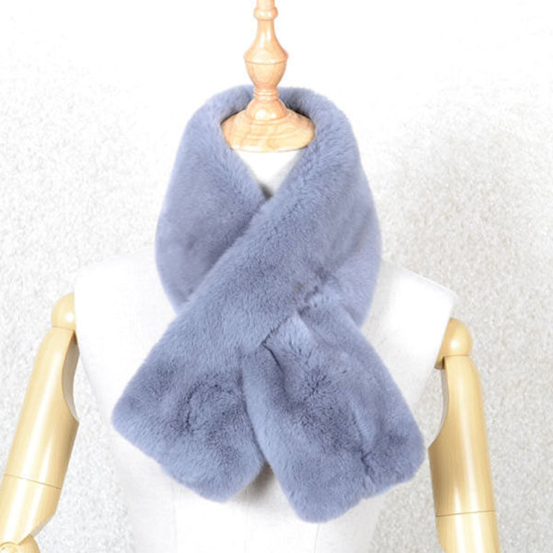 Purity genuine rex rabbit fur scarf for women winter factory price 2016