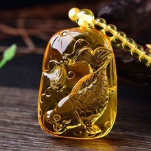 Wholesale synthetic beeswax high quality pendant <strong>necklace</strong> carving fish