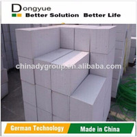 High quality flyash gypsum Aac conrete block for office building
