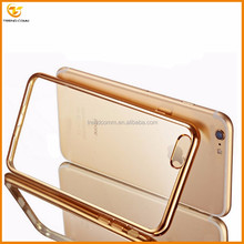wholesale transparent electroplating tpu case for iphone 7