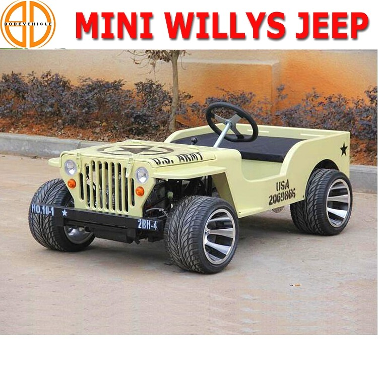 Bode quality assured gas 150cc mini jeep willys for kids adults