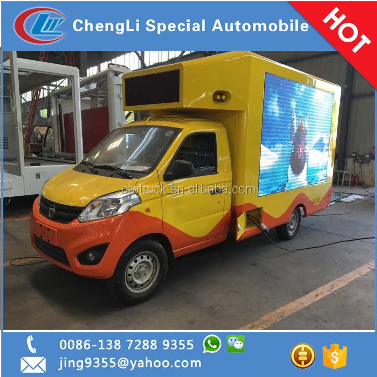 Mini led advertising truck with 3 sides mobile advertising van for sale in the Philippines