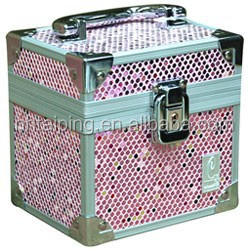 hot sale makeup zebra jewelry gift boxes pink caboodles train box