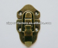 anti brass color finished metal case lock