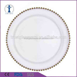 High quality fashion glass fruit and salad plate wholesale