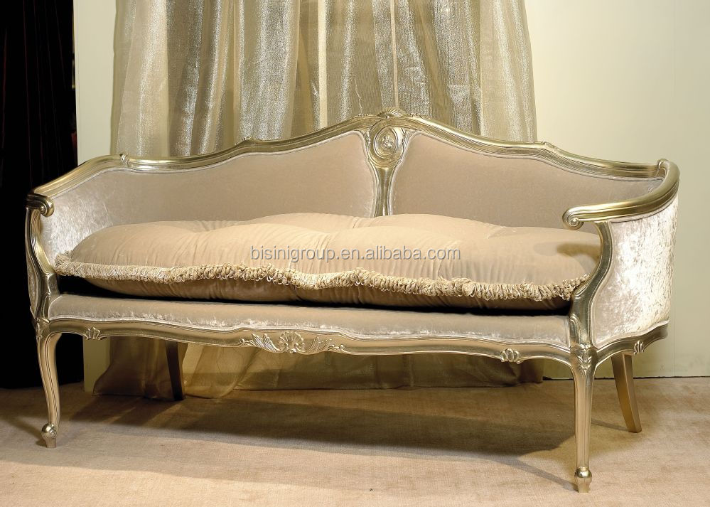 Retro vintage french style soft chaise lounge antique for Antique chaise lounge styles