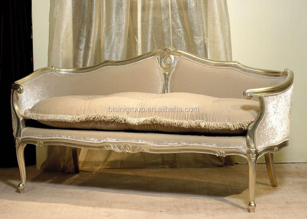 Retro vintage french style soft chaise lounge antique for Vintage parisian lounge