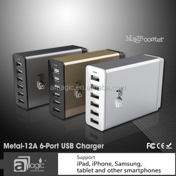Smart 8A 6 port usb charger support for ipad iphone samsung tablet and other smartphones