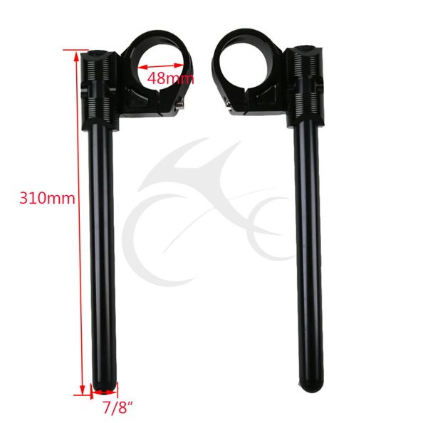 48mm Black New HandleBars Clip On For Honda CBR600RR F5 CBR 600 RR 2005-2013