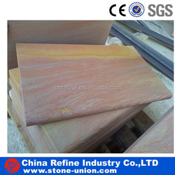 Rainbow sandstone edging stone paver with bullnose
