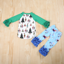 Hot sale Christmas super cute baby girls clothing sets newborn cotton girl outfits boutique kids girls casual wear clothes set