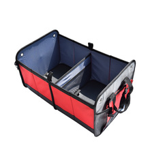 Heavy Duty Collapsible/Foldable Tidy Cargo Storage Boxes For Auto Car, SUV, Car Trunk Organizer