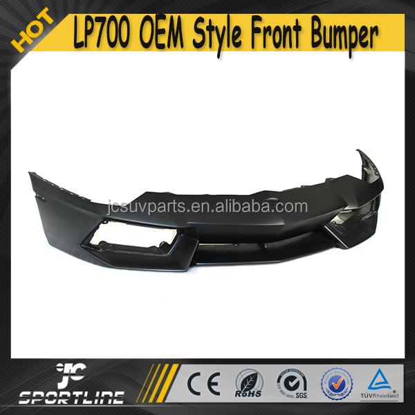 Fiber Glass Unpainted Black Primer Car Front Bumper for Lamborghini LP700 Aventador 11-15