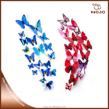 12pcs/set PVC Butterfly Decals 3D Wall Stickers Home Decor Poster for Kids Rooms Adhesive to Wall Decoration Adesivo De Parede