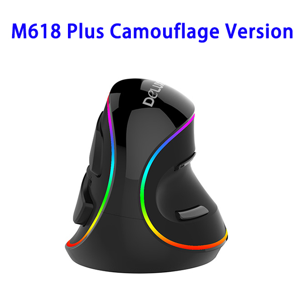 DeLUX M618 Plus Camouflage Version Vertical Ergonomic Wired Gaming Mouse