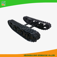 2 ton rubber track chassis for small size crawler machine