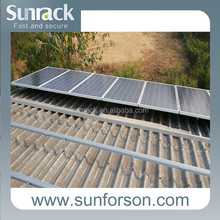 30kw home solar system pitched roof pv panel mounting system