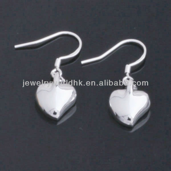 Fashion cute heart wedding dangle earrings