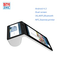 wireless handheld pos terminal with 3g wifi nfc/rfid printer