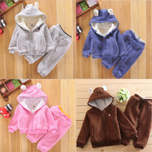 Winter clothing thickening children's suit MT106996