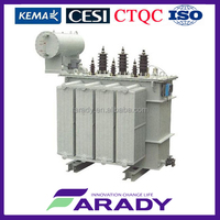 low losses 630 kva three phase oil immersed transformer with radiators