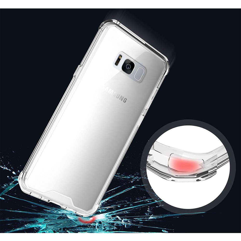 For Samsung Galaxy s8 Case, Clear Hard Back Cover TPU Bumper Case for Samsung s8 Case