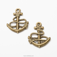 Factory custom high quality diy bracelet jewelry anchor charms