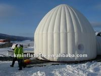 Outdoor inflatable igloo tent