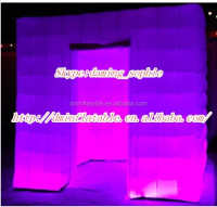 2015 high quality inflatable stage dome tent with LED lighting