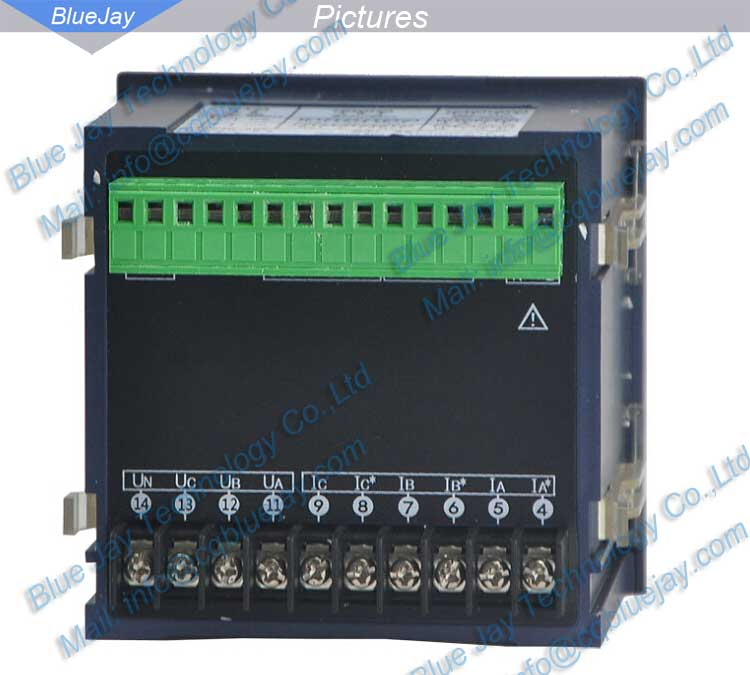 BJ194Q TFT Screen Multi-function Power Meter, Three phase Digital Power Meter with RS485 modbus-rtu